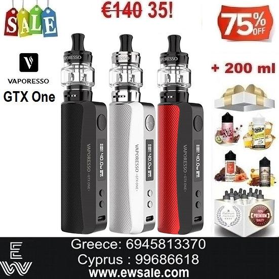 Vaporesso GTX One Kit + 200 ml Υγρά Αναπλήρωσης