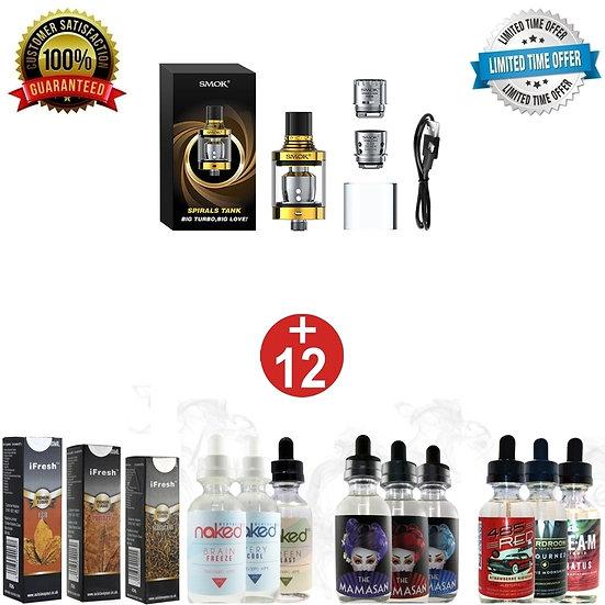 SMOK SPIRALS SUB-OHM TANK + 12x10 ml E-liguids