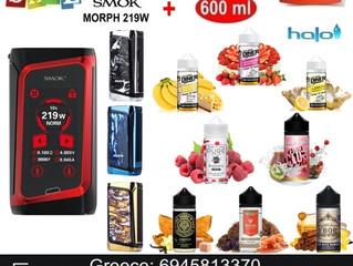 Smok MORPH 219W Mod αφής + 600 ml Halo Υγρά άτμισης €79!