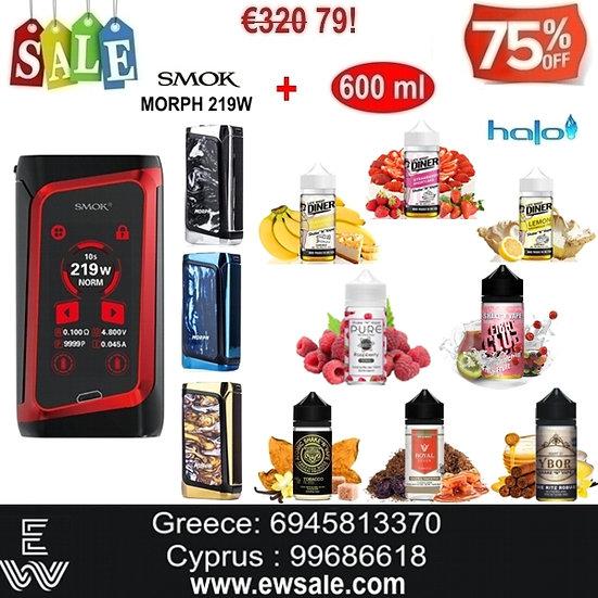 Smok MORPH 219W TC Mod αφής ηλεκτρονικού τσιγάρου + 600 ml Halo Υγρά άτμισης