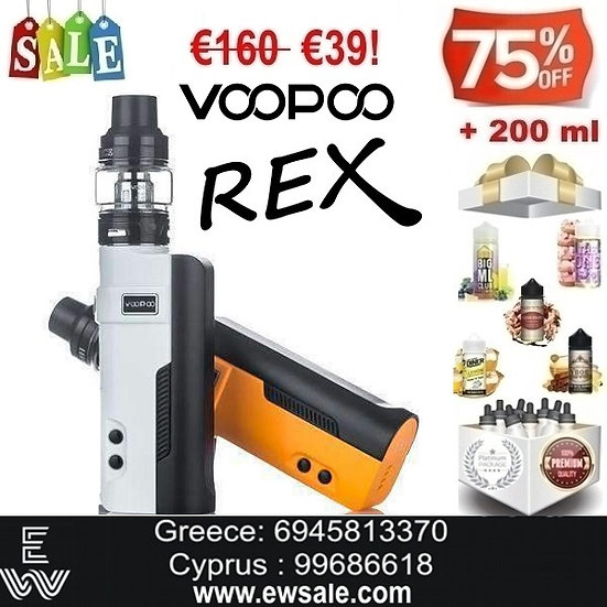 Voopoo REX 80W Ηλεκτρονικά Τσιγάρα +200ml Υγρά άτμισης