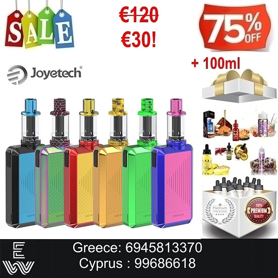 JOYETECH Batpack Kit Hλεκτρονικό τσιγάρο + 100 ml  Υγρά Αναπλήρωσης, άτμισης
