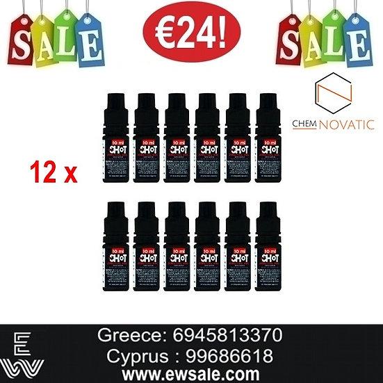 12 x Chemnovatic Booster νικοτίνης - Ατμιστική Βάση