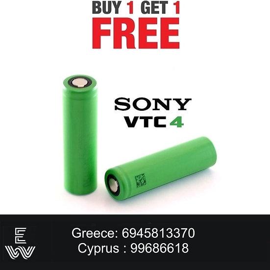 1+1 Sony 18650 VTC4 E-Cig - ΜΠΑΤΑΡΙΕΣ ΓΙΑ MODS