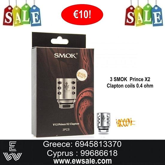 3 x Smok TFV12 Prince X2 Clapton 0.4 ohm Ανταλλακτικές κεφαλές - αντιστάσεις