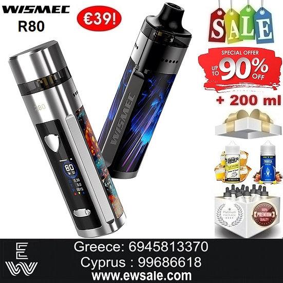 Wismec R80 80W Ηλεκτρονικά Τσιγάρα + 200ml Υγρά άτμισης