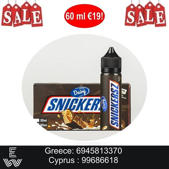 60 ml Snickersz Chocolate Bar PUBLIC JUICE Υγρά αναπλήρωσης