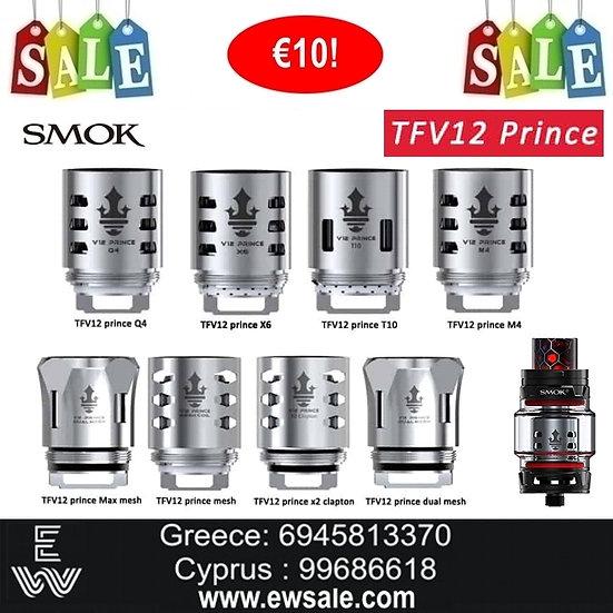 3 x Smok TFV12 Prince Ανταλλακτικές κεφαλές - αντιστάσεις