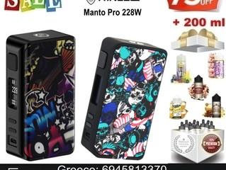 Rincoe Manto Pro 228W Mod + 200 ml υγρά μόνο €39!