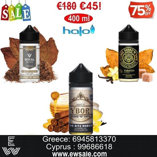 400 ml Halo Καπνικές Γεύσεις Υγρά αναπλήρωσης