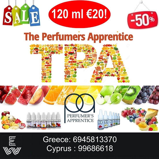 120 ml TPA Perfumer's Apprentice Αρώματα DIY υγρων αναπληρωσης