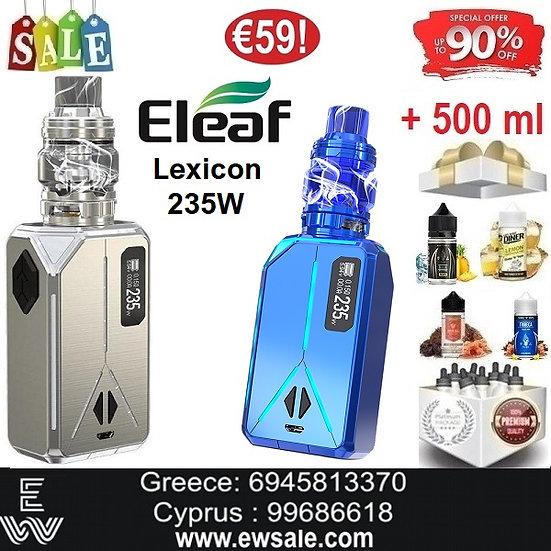 Eleaf Lexicon 235W+ ELLO DURO Ηλεκτρονικά Τσιγάρα + 500ml Υγρά άτμισης