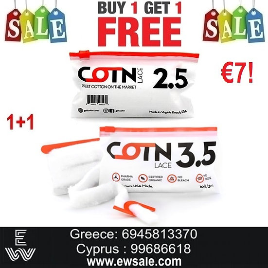 1+1 (2) COTN Lace βαμβάκι αντίστασης ηλεκτρονικού ηλεκτρονικού τσιγάρου