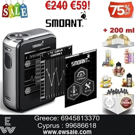 Smoant Charon TS 218W αφής Touch Screen Mods ηλεκτρονικού τσιγάρου