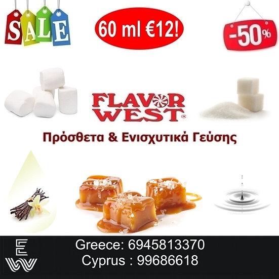 60 ml Flavor West Ενισχυτικά γεύσης Αρώματα DIY υγρων αναπληρωσης