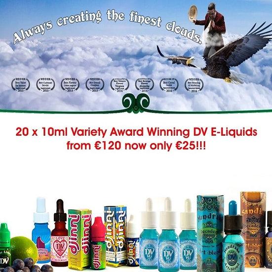 20 x 10 ml Vape E-Liquids - Βραβευμένα Υγρά άτμισης