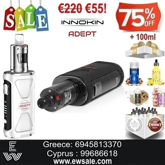 Innokin Adept Zlide Kit Ηλεκτρονικά Τσιγάρα + 100ml Υγρά άτμισης