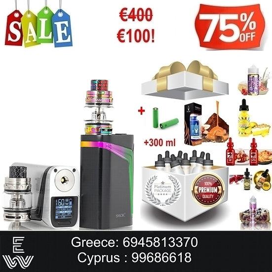 SMOK V-FIN 160W KIT + 2x18650 + 300 ml Δημοφιλή Υγρά άτμισης