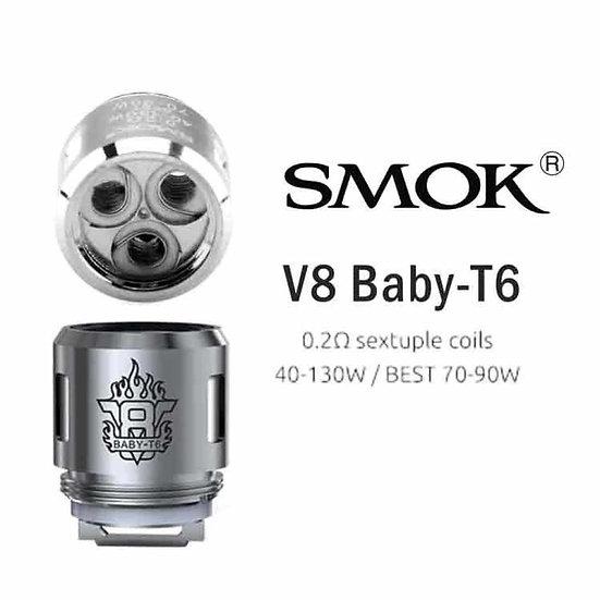 3 Smok TFV8 Baby T6 Coils / Atomizer Head / αντιστάσεις