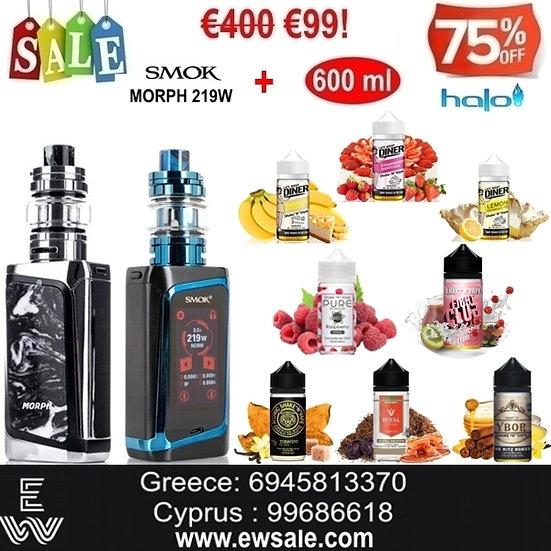Smok MORPH 219W TC Kit αφής + 600 ml Δημοφιλή Υγρά άτμισης