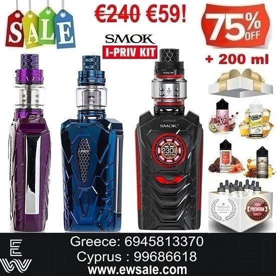 SMOK I-Priv Voice - Φωνητικές Εντολές Hλεκτρονικό τσιγάρο + 200 ml Υγρά άτμισης