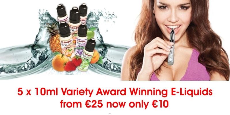 5 x 10ml Variety Award Winning E-Liquids - Ποικιλία Βραβευμένα Υγρά αναπλήρωσης 2016!