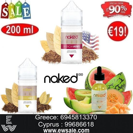 200 ml Naked 100 DIY Υγρά Αναπλήρωσης