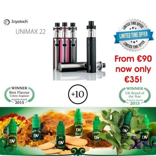 Joyetech Unimax 22 Kit +10x10ml E-Liquids / Βραβευμένα Υγρά άτμισης