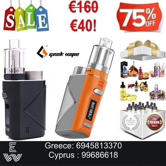 GEEK VAPE LUCID 80W KIT Ηλεκτρονικά Τσιγάρα + 100 ml Υγρά Αναπλήρωσης