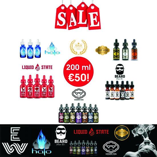 200 ml Gold Sample Box Best E-Liquids - Δημοφιλή Υγρά άτμισης