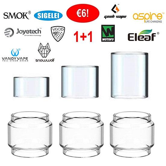 1+1 Ανταλλακτικά τζαμάκια για Ατμοποιητές ηλεκτρονικού τσιγάρου / Glass