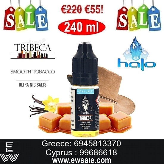 24 x 10ml Halo Tribeca Nic Salt, άλατα νικοτίνης 20mg Υγρά άτμισης