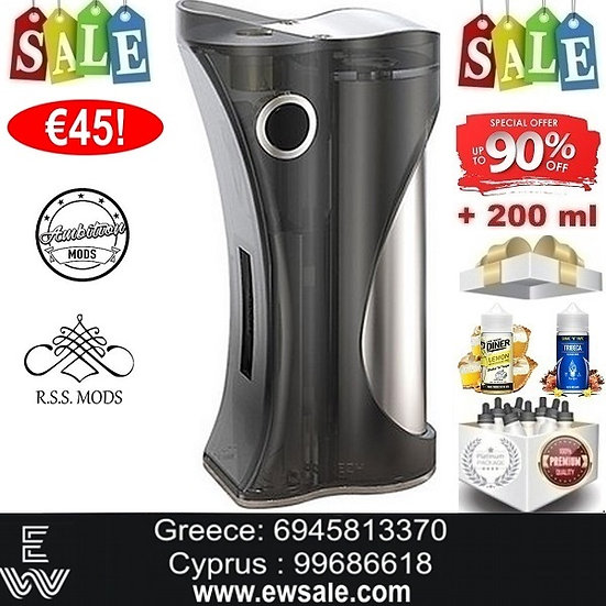 AmbitionR.S.S.Hera Modηλεκτρονικού τσιγάρου + 200ml Υγρά άτμισης