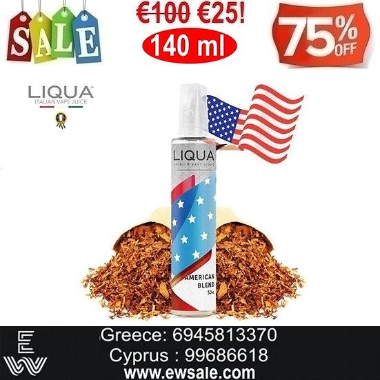 140 ml LIQUA AMERICAN BLEND Υγρά Αναπλήρωσης