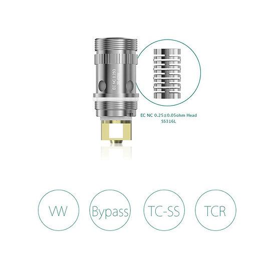 5 Eleaf EC NC coils 0.25ohm - κεφαλές αντίστασης