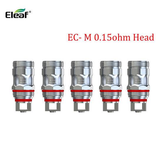 5 x ELEAF EC-M COILS κεφαλές αντίστασης 0.15ohm