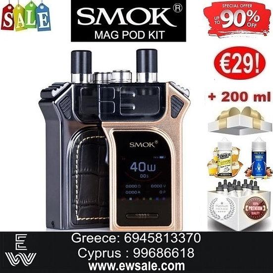 Smok Mag Pod Kit Ηλεκτρονικά Τσιγάρα + 200ml Υγρά άτμισης