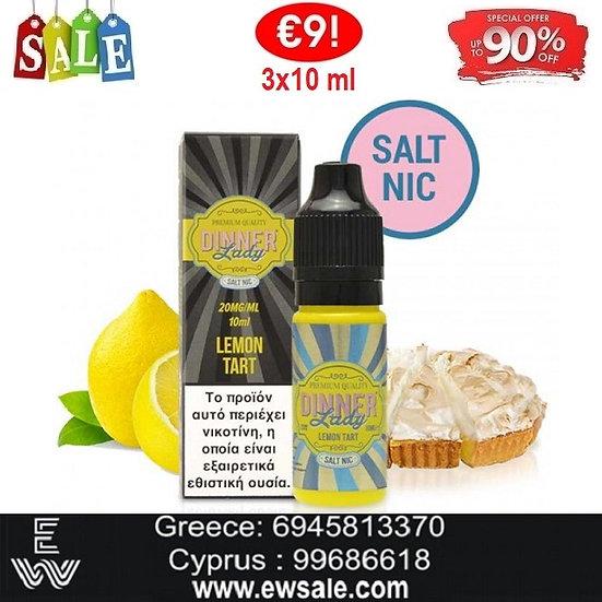 3 x 10ml Dinner Lady Lemon Tart Nic Salt, άλατα νικοτίνης Υγρά άτμισης