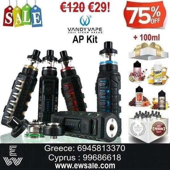 Vandy Vape AP Kit Ηλεκτρονικά Τσιγάρα + 100ml Υγρά άτμισης