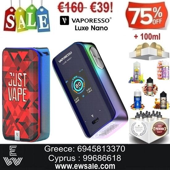 Vaporesso Luxe Nano 80W Mod αφής ηλεκτρονικού τσιγάρου + 100ml Υγρά άτμι