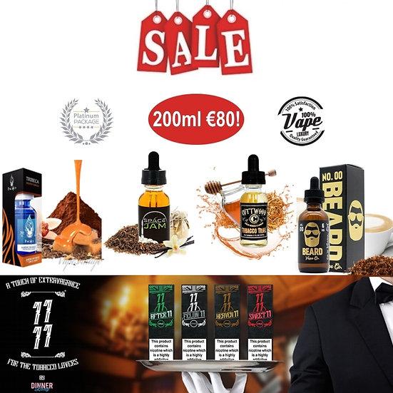 200 ml Platinum Tobacco Box - Δημοφιλή Υγρά άτμισης Καπνικές Γεύσεις