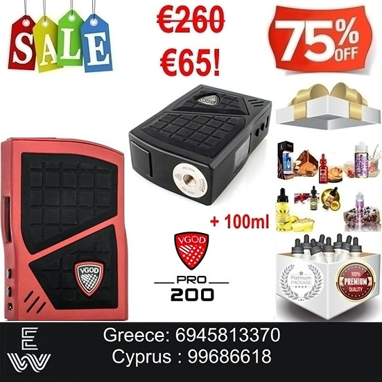 VGod Pro 200 Mod Ηλεκτρονικά Τσιγάρα + 100 ml Υγρά άτμισης