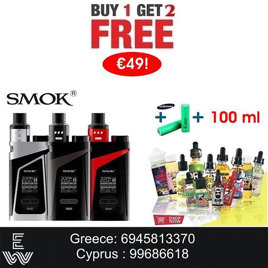 1+2: SMOK Skyhook RDTA + 2x18650 + 100 ml Δημοφιλή Υγρά άτμισης