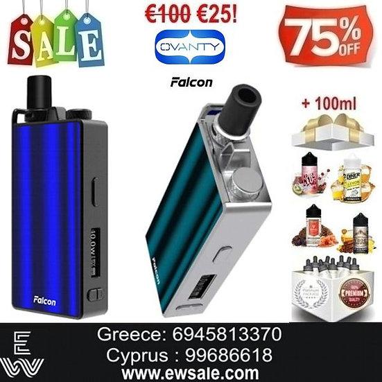 Ovanty Falcon Kitηλεκτρονικού τσιγάρου + 100ml Υγρά άτμισης