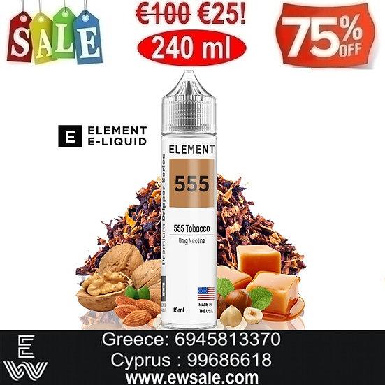 240 ml Element555 Tobacco DIY Υγρά Αναπλήρωσης