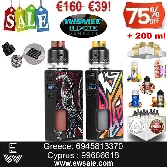 Wismec Luxotic Surface Kestrel Kit Ηλεκτρονικά Τσιγάρα + 200 ml Υγρά άτμισης