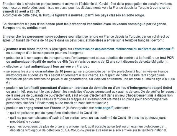 Message à la communauté française