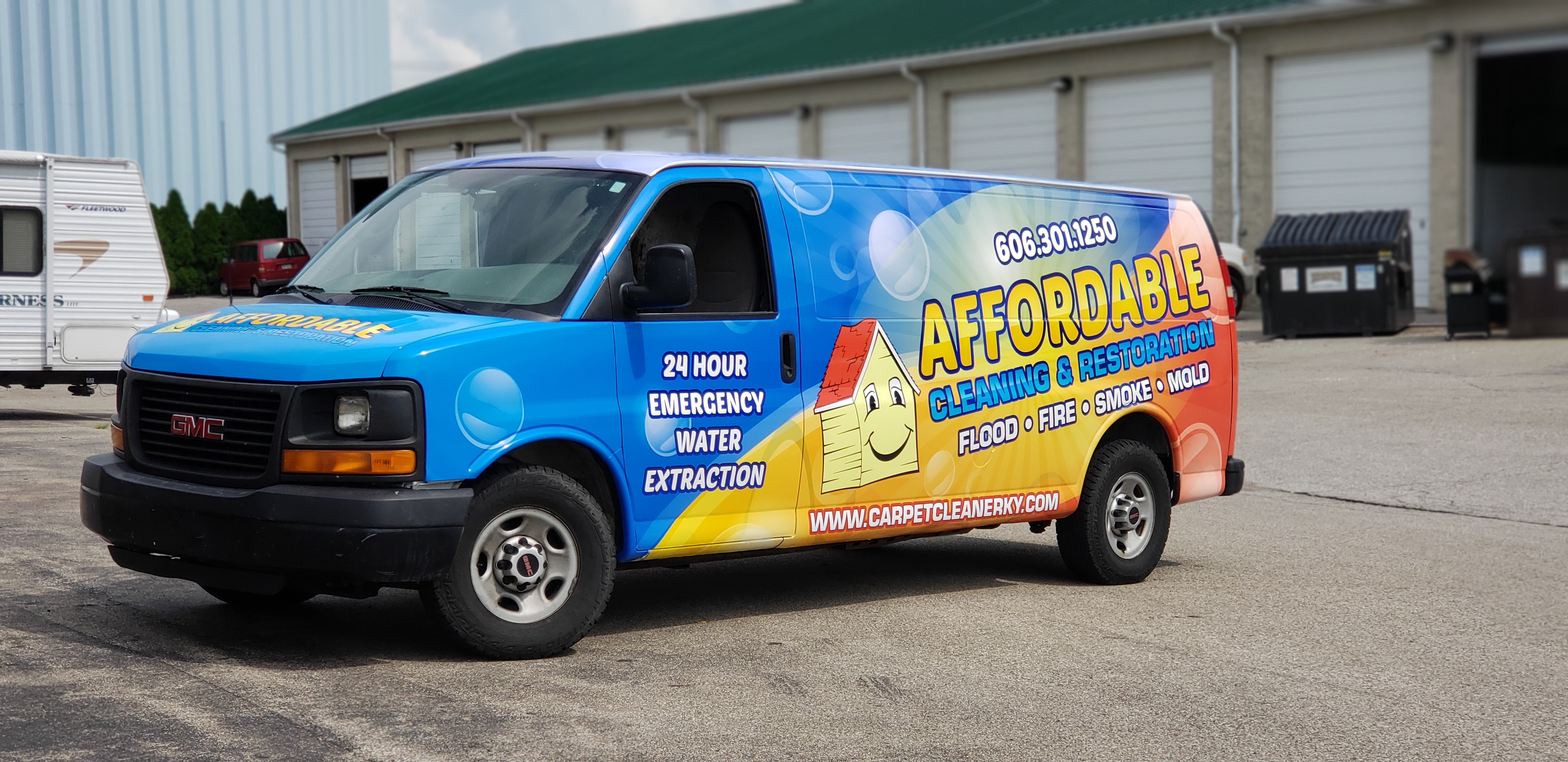 Affordable Cleaning Van