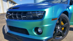 Cincy Vinyl Wraps Aquamarine Camaro (6).