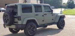 Cincy Vinyl Wraps Matte Khaki Green Jeep